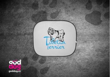 "Autostínítko s potiskem tibetského teriéra ""Tibetan Terrier"""