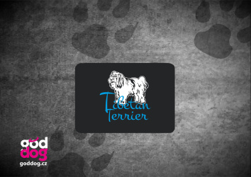 "Podložka pod myš s potiskem tibetského teriéra ""Tibetan Terrier"""