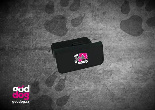 """Dámská peněženka s potiskem psa """"Life is good"""", velká"""