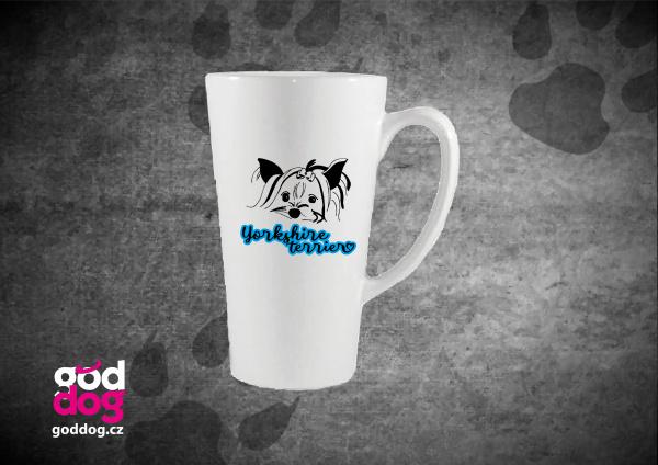 "Latté s potiskem jorkšírského teriéra ""Yorkshire Terrier"""
