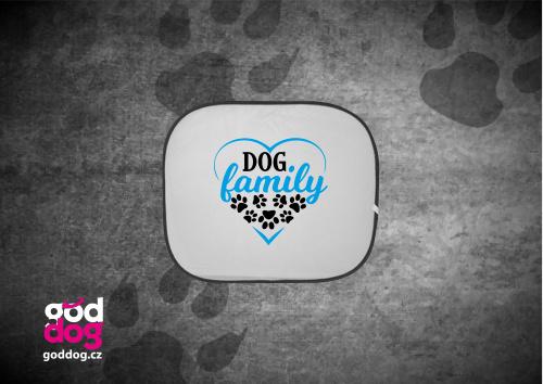 """Autostínítko s potiskem psa """"Dog Family"""""""