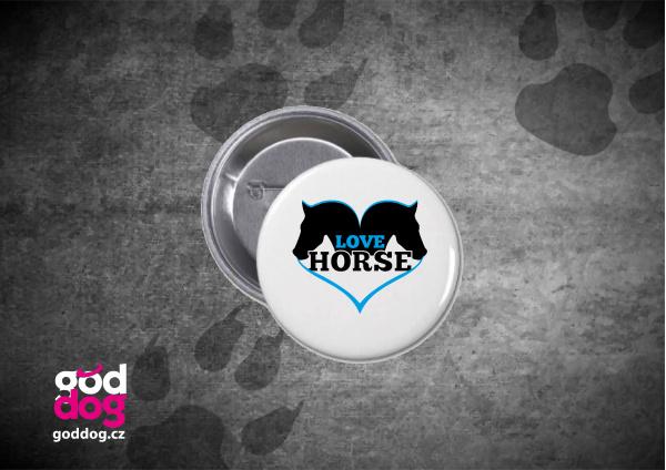 """Placka s potiskem koně """"Love Horse"""""""