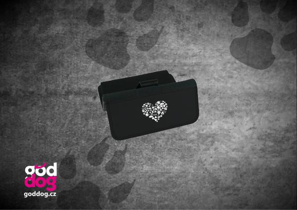 """Dámská peněženka s potiskem psa """"Srdce psa"""", velká"""