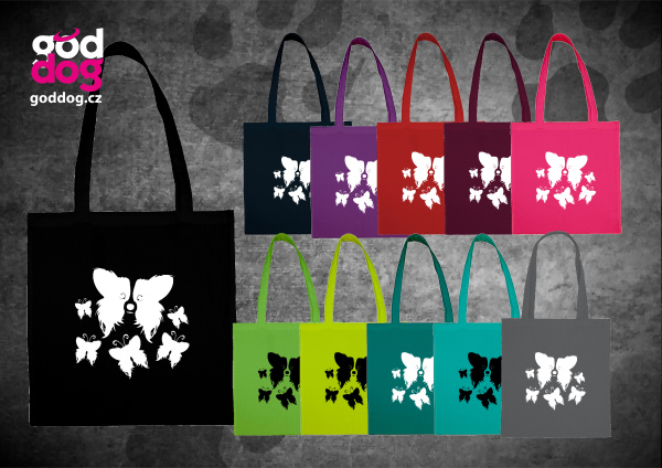 """Nákupní plátěná taška s potiskem papillona """"Motýl"""""""