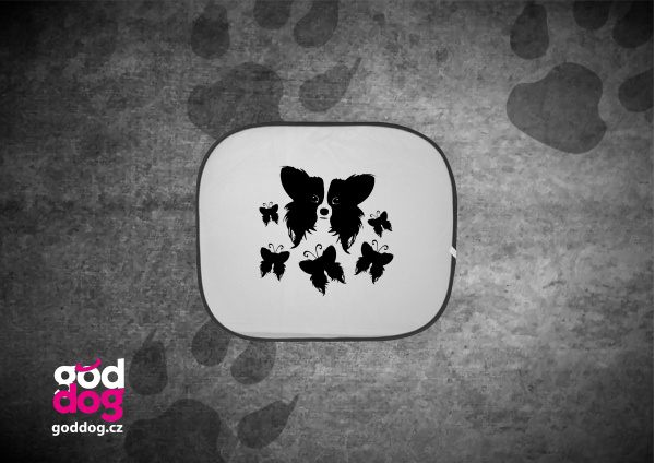 """Autostínítko s potiskem papillona """"Motýl"""""""