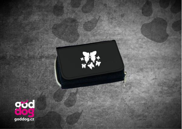 """Dámská peněženka s potiskem papillona """"Motýl"""", džinová"""