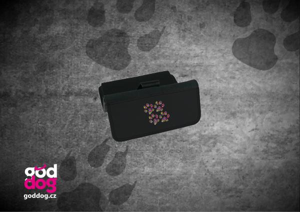 """Dámská peněženka s potiskem psa """"Paw Flowers"""", velká"""