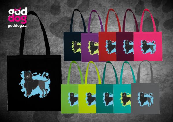 """Nákupní plátěná taška s potiskem portugalského vodního psa """"Cartoon"""""""