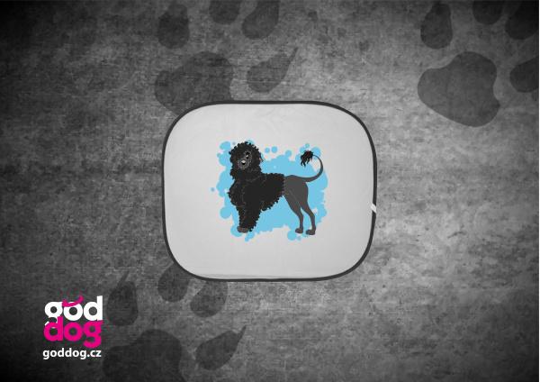 """Autostínítko s potiskem portugalského vodního psa """"Cartoon"""""""